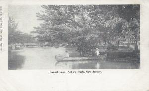 Sunset Lake, Asbury Park, New Jersey, Very Early Postcard, Unused