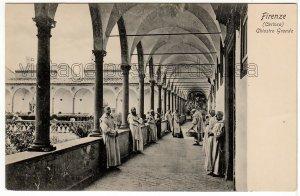 Firenze ITALY Certosa - Chiostro Grande Vintage Undivided B&W Postcard