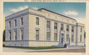 Exterior, United States Post Office,  Mount Airy,  North Carolina,  30-40s