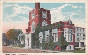Public Library Nashua Hew Hampshire 1920 Curteich
