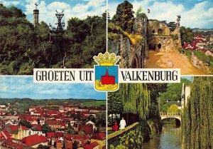 Netherlands Groeten uit Valkenburg Tower Cross Castle Ruins Bridge Postcard