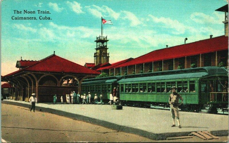 Caimanera Cuba Noon Train UNP Unused 1910s Vintage Postcard