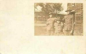 Military, Three Soldiers, RPPC