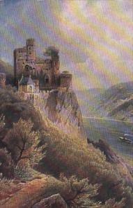 BURG RHEINSTEIN, Rhineland-Palatinate, Germany, 1900-1910's; Ein Kleinod Aus ...