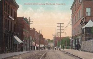 Canada New Brunswick St John Charlotte Street Looking North 1908