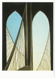 Brooklyn Bridge by Georgia O'Keeffe Art Postcard