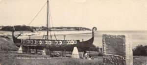 Vintage Valentine RP Panorama Postcard The Viking Ship Pegwell Bay 200x89mm #688
