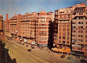 Spain Valencia Plaza del Caudillo Square Hotel Londres Street Cars
