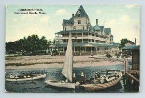 c. 1910s Pemberton Hotel Nantasket Beach Boston Mass Postcard