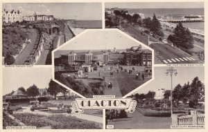 CLACTON, Essex, England, PU-1956; Marine Parade, The Pier From West Cliff, Pi...
