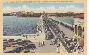 Florida St Petersburg Heavy Traffic On The Recreation Pier Curteich