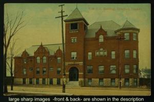 YMCA Building Stratford Ontario pub H Knox pmk c1909-10