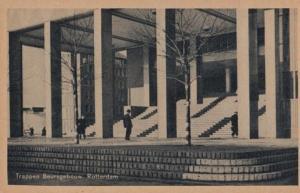 Trappen Beursgebouw Rotterdam Antique Postcard