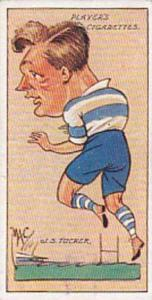 Player Vintage Cigarette Card Football Caricatures By Mac 1927 No 49 J S Tucker