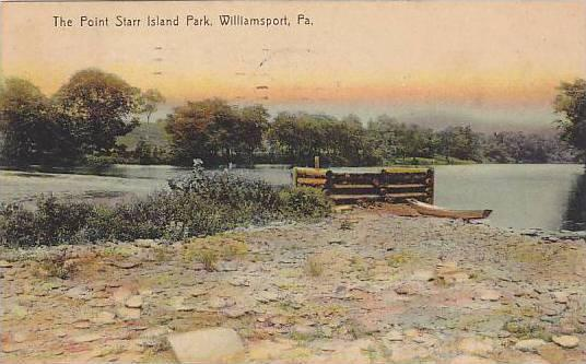 The Point Starr Island Park, Williamsport, Pennsylvania, PU-1910