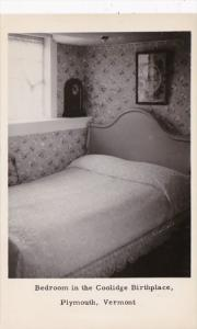 Vermont Plymouth Bedroom In The Coolidge Birthplace Real Photo