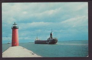 Entrance to Milwaukee Harbor,Milwaukee,WI Ship