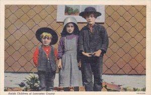 Amish Childern Of Lancaster County Pennsylvania 1951