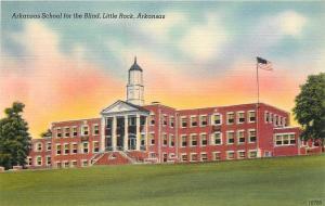 Little Rock Arkansas~School for the Blind~1940s Postcard