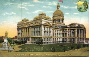 Indianapolis, Indiana, Capitol Building, Coat of Arms (1910s) Gold Embossed