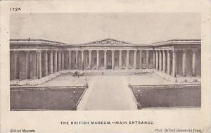 The British Museum, Main Entrance, London, United Kingdom, PU-1945