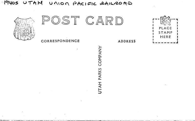1940s Utah Union Pacific Railroad Mt Carmel Tunnel Zion RPPC