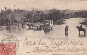 MONTEVIDEO, Uruguay, PU-1914; Un Paso, Stage Coach, Men On Horses
