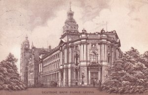 LEIPZIG, Saxony, Germany, PU-1913; Deutsche Bank Filiale