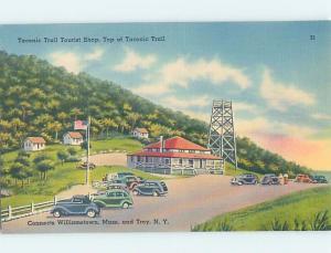 Unused Linen TACONIC TRAIL Williamstown Massachusetts Ma & Troy NY hn9231