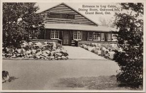 Oakwood Inn Grand Bend Ontario ON Log Cabin Unused Irwin Specialty Postcard E58