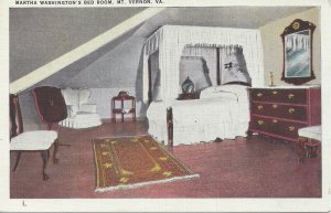 Postcard - VA - Virginia Mount Vernon George Washington Bedroom Unposted