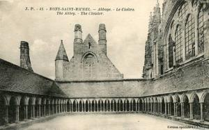 France - Mont Saint Michel, The Abbey, The Cloister