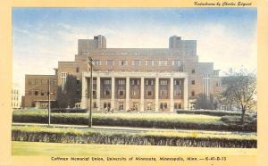 Minneapolis~University of Minnesota~Coffman Memorial Union~1940s Kodachrome PC