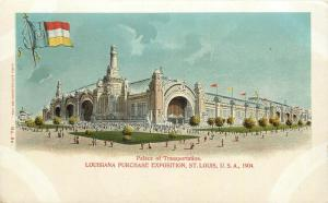 1904 World's Fair Expo Postcard St. Louis MO Palace of Education unposted nice
