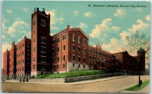 Kansas City, Kansas Postcard St. Margaret's Hospital Building View c1910s