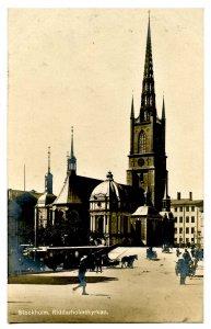 Sweden - Stockholm. Riddarholmskyran (church)  *RPPC