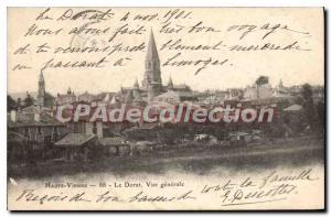 Old Postcard Haute Vienne Le Dorat General view
