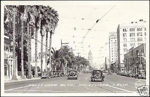 Hollywood Boulevard, Car Palms (1930s) Frashers Fotos