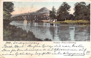 Germany, Jena, Paradies - Blick a.d. Hausberg, bruecke bridge pont 1903