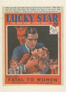 Man Makes Women His Slaves Satan Slavery Comic Book Postcard