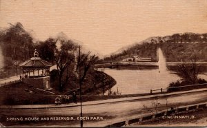 Ohio Cincinnati Eden Park Spring House and Reservoir 1909