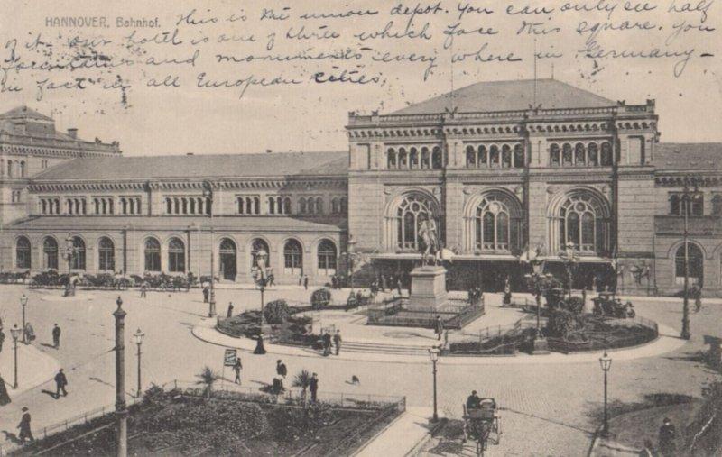 HANNOVER, Lower Saxony, Germany, PU-1914 ; Bahnhof