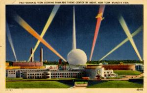NY - New York World's Fair, 1939. Theme Center by Night