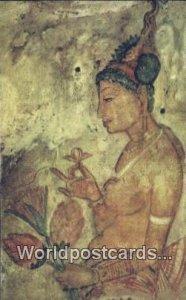 1500 Year Old Fresco, Sigiriya Sri Lanka Ceylon, Sri Lanka Writing On Back