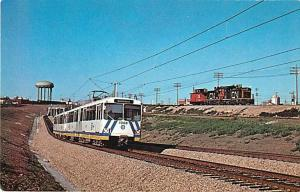 Outbound Edmonton Transit LRT near Belevedere Station AB