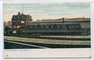 Union Station Railroad Depot Baltimore Maryland 1910s postcard