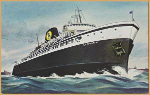 C&O / Chessie System Ferry S.S. Spartan, between Ludington, MI. & Manitowoc, WI.