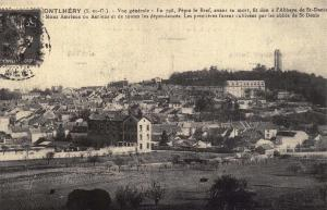 Postcard Vintage MONTLHERY General View French Reproduction