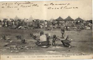 CPA Maroc Casablanca Au Camp Senegalais (23670)