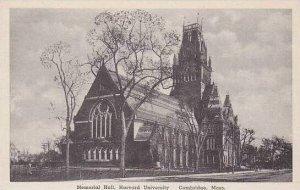Massachusetts Cambridge Memorial Hall Harvard University Albertype